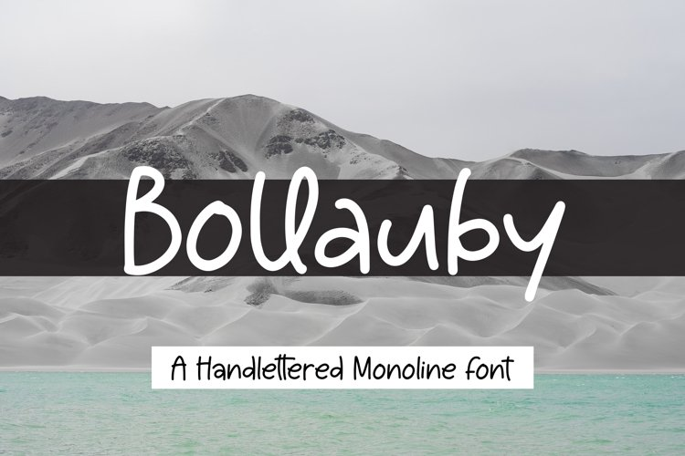 Bollauby - A handlettered Monoline Font example image 1