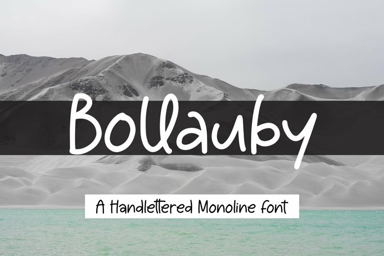 Web Font Bollauby - A handlettered Monoline Font example image 1