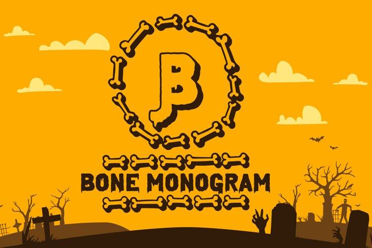 Bone Halloween Monogram example image 1