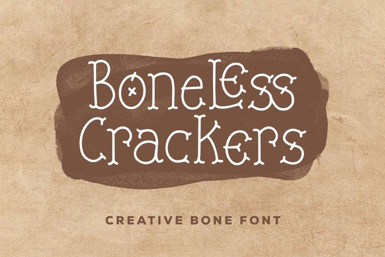 Boneless Crackers - Creative Bone Font example image 1