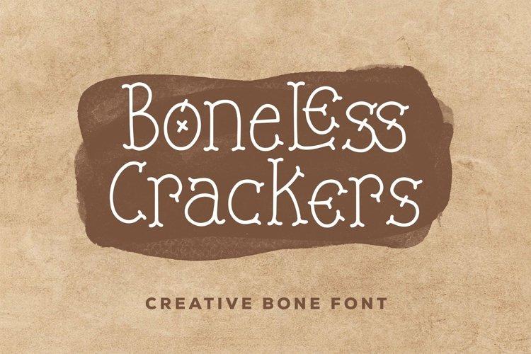 Web Font Boneless Crackers - Creative Bone Font example image 1