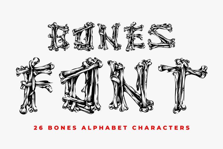 Bones Font - 26 CAPS Alphabet Characters example image 1