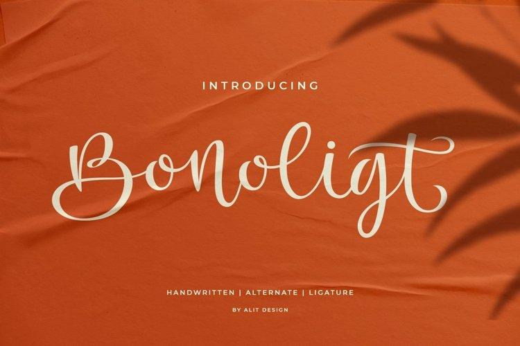 Bonoligt Typeface example image 1