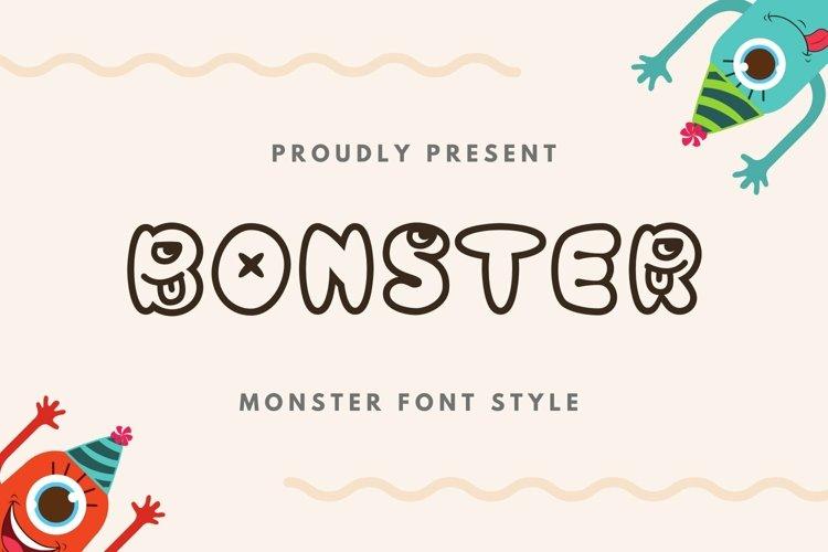 Web Font Bonster Font example image 1