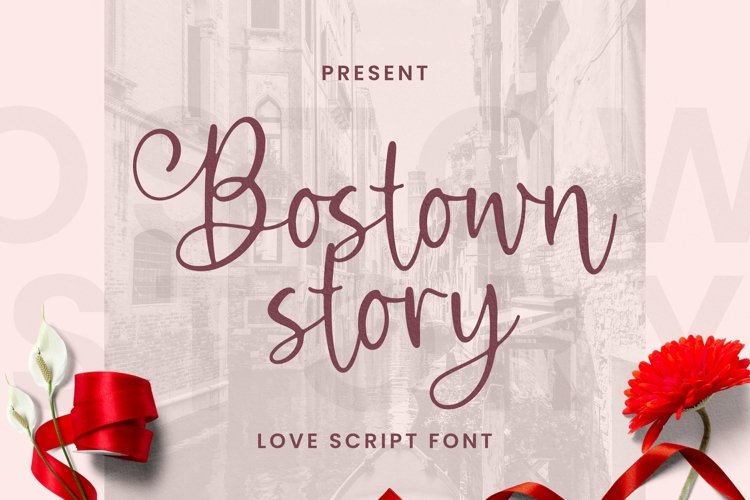 Web Font Bostown Story Font example image 1