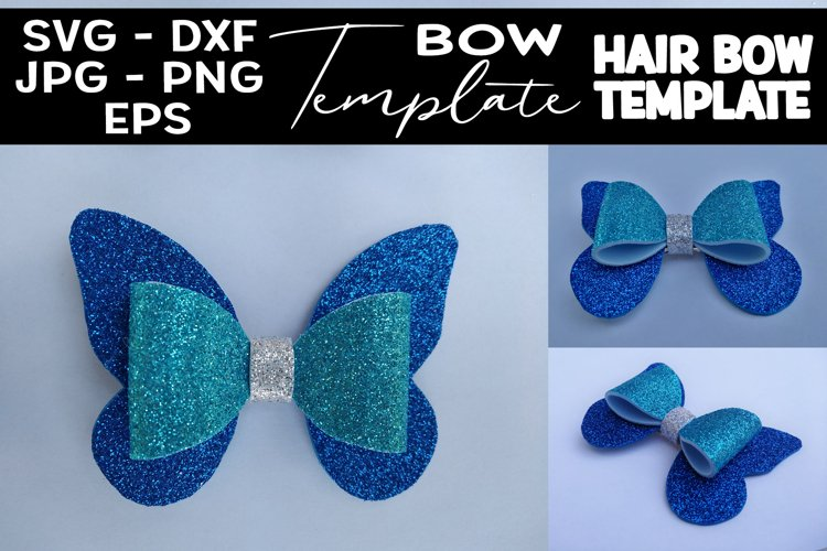 Butterfly Hair Bow Template SVG DIY Hair Bow