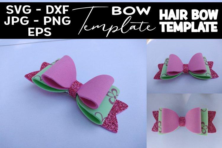 Hair Bow SVG 3 Layers Hair Bow Template