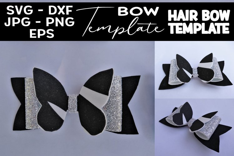DIY Bow Template SVG Hair Bow Template SVG