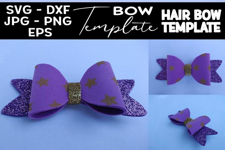 Hair Bow Template SVG DIY Bow Template