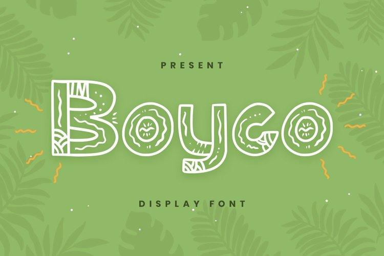 Web Font Boyco Font example image 1