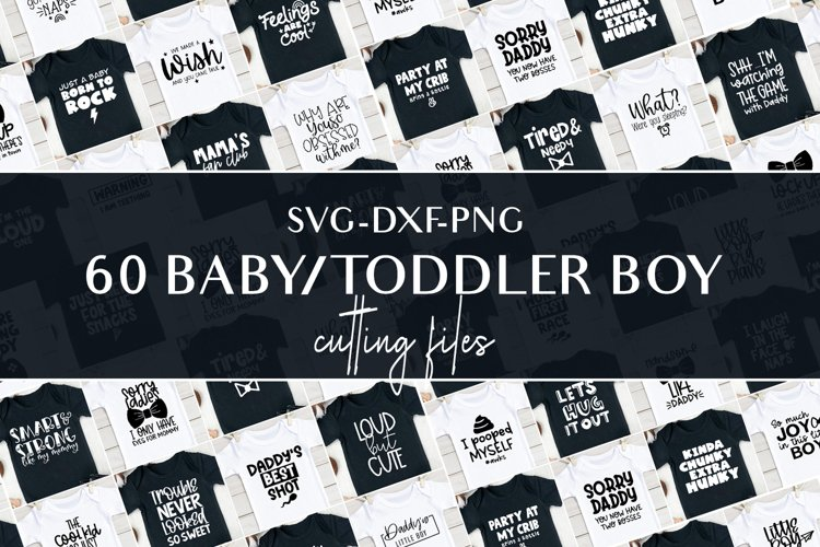 Svg bundle for baby boys and toddlers cutting files example image 1