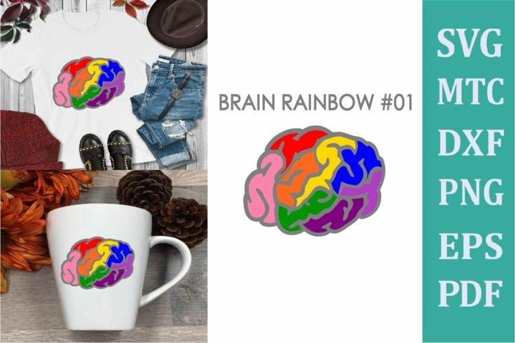 Brain Rainbow # 01 Awareness Neurodiversity SVG Cut File