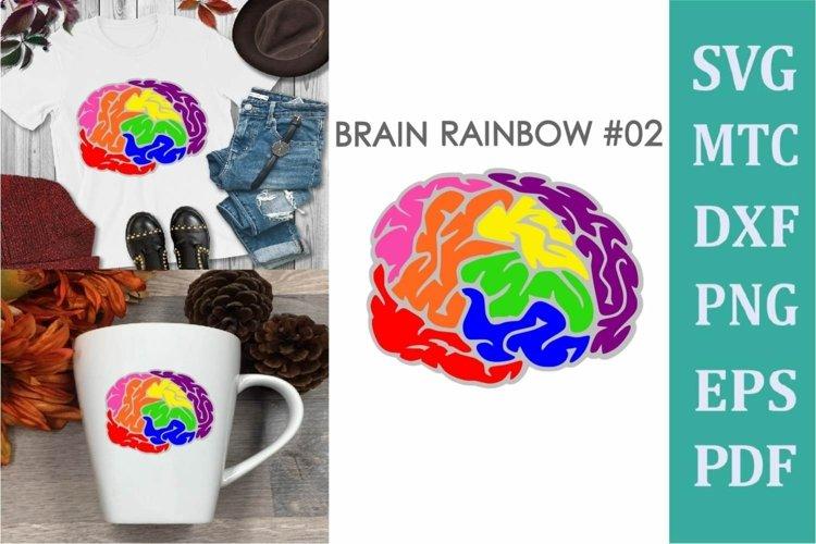 Brain Rainbow # 02 Awareness Neurodiversity SVG Cut File