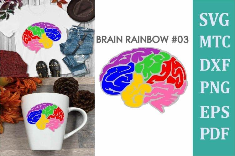Brain Rainbow # 03 Awareness Neurodiversity SVG Cut File