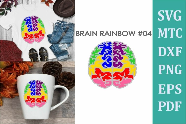 Brain Rainbow # 04 Awareness Neurodiversity SVG Cut File