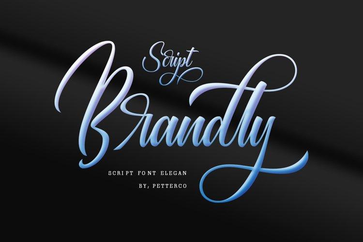 Brandly script font modern example image 1