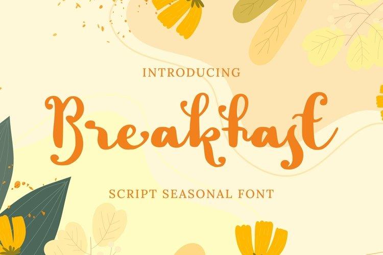 Web Font Breakfast Font example image 1