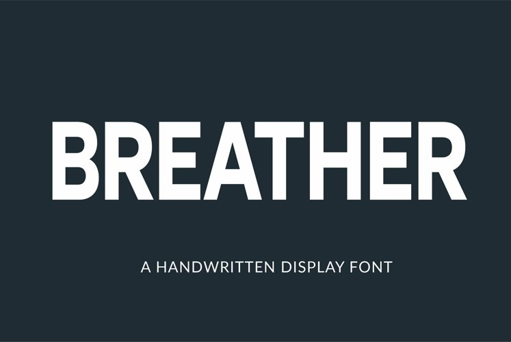 Web Font Breather example image 1