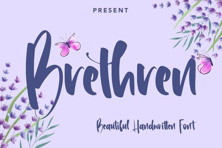 Web Font Brethren - Beautful Handwritten Font example image 1