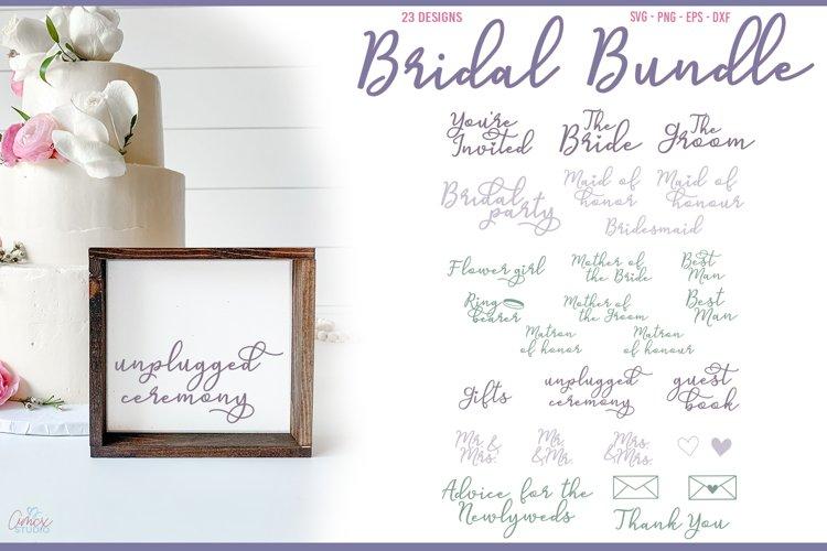 Bridal Bundle - Bridal Party SVG Set