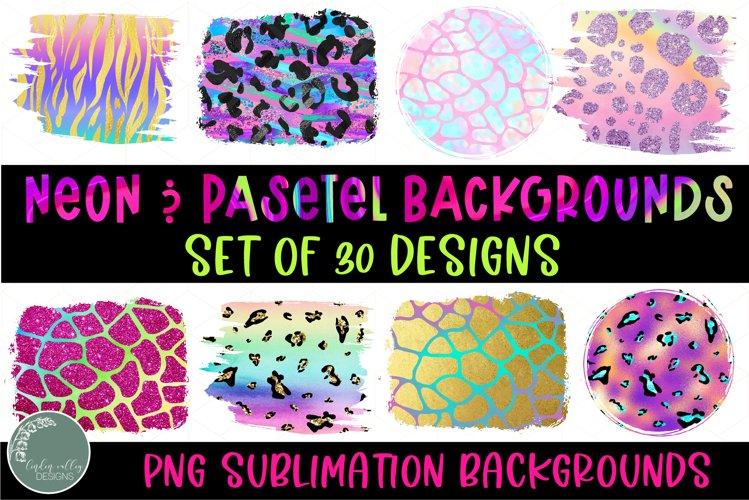 Neon and Pastel Animal Print Sublimation Background Bundle example image 1
