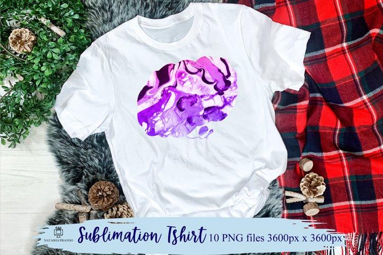 Bright Watercolor Marble Texture Sublimation Shirt design