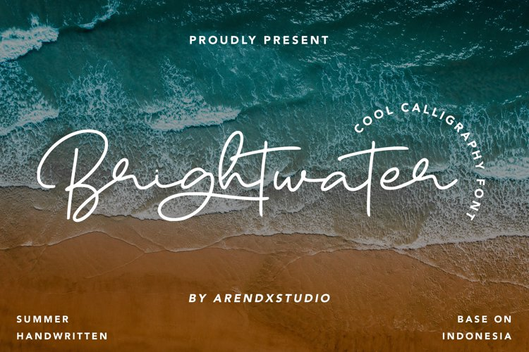 Brightwater - Cool Calligraphy Font example image 1