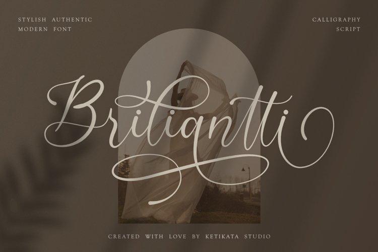 Briliantti beautiful Script Font example image 1