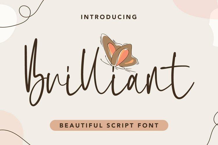 Web Font Brilliant - Beautiful Script Font