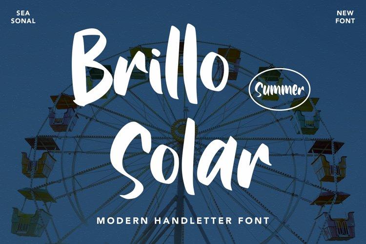 Brillo Solar - Modern Handwritten example image 1