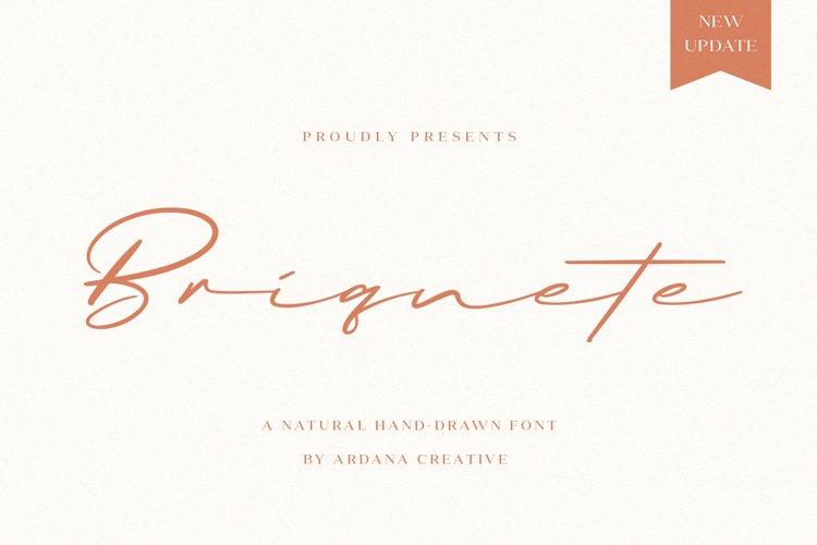 Briquete | Natural Brush Font