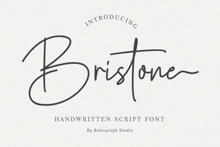 Bristone - Handwritten Script Font example image 1