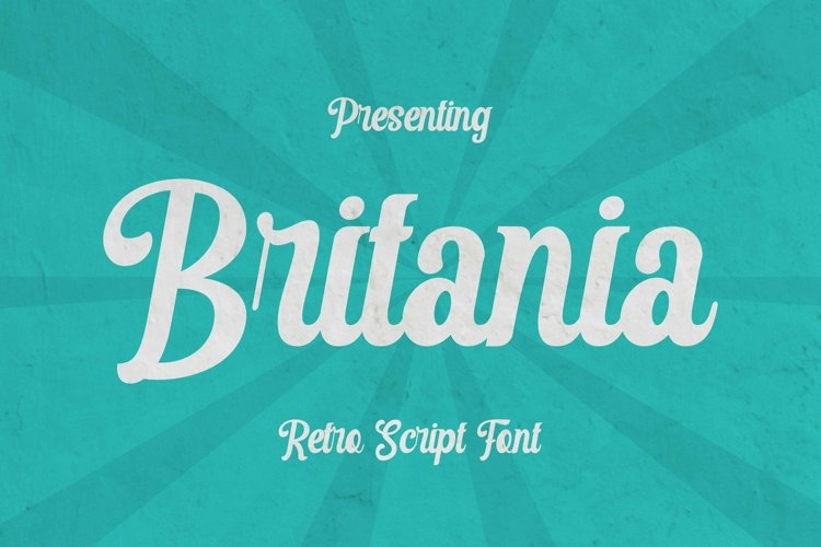 Web Font Britania example image 1