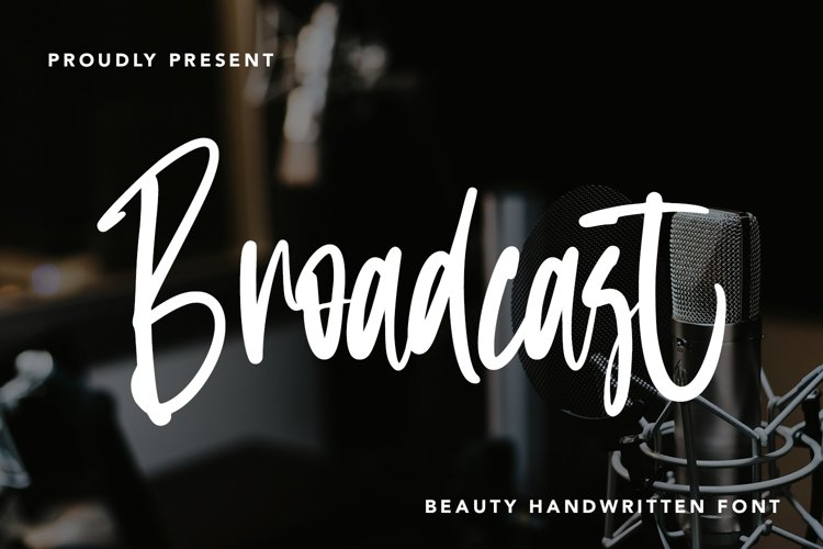 Broadcast - Beauty Handwritten Font example image 1