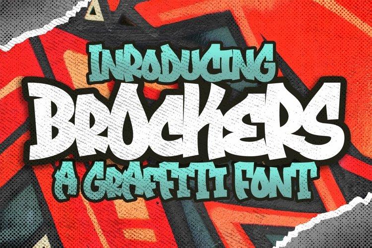 Brockers Urban Graffiti Art Font