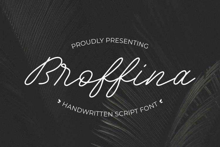Web Font Broffina example image 1