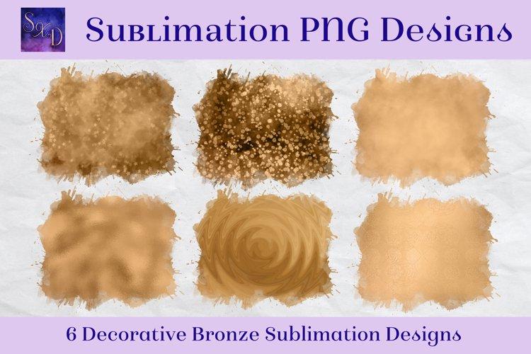 Sublimation PNG Designs - Decorative Bronze Images