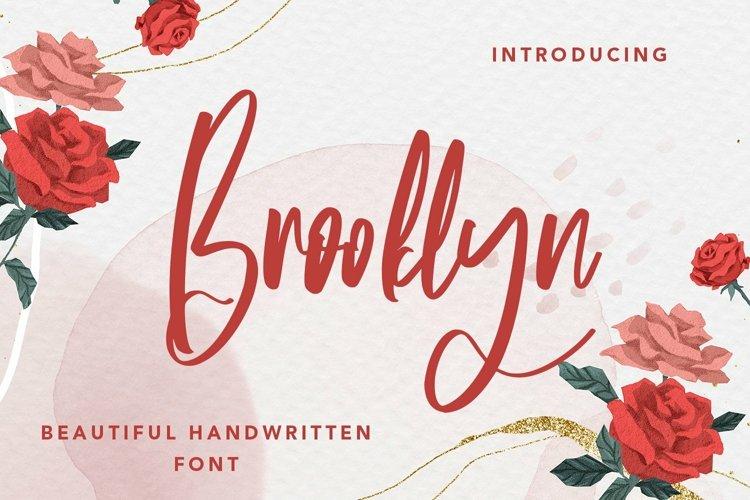 Web Font Brooklyn - Beautiful Handwritten Font example image 1