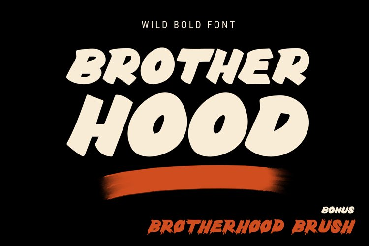 Brotherhood - Masculine Adventurous Font - Branding and Logo example image 1