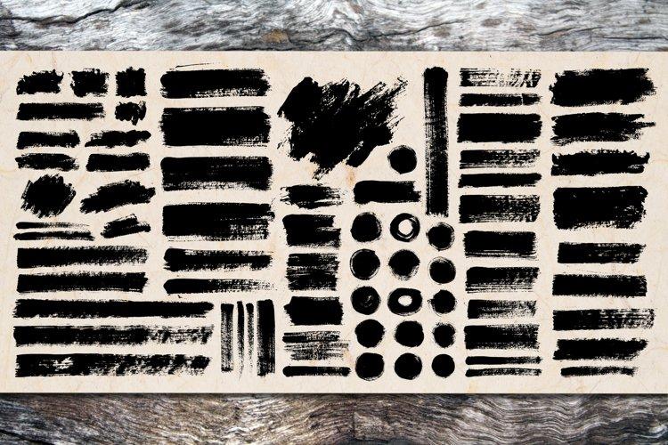 Brush Stroke SVG Bundle   PNG Grunge Background Pack