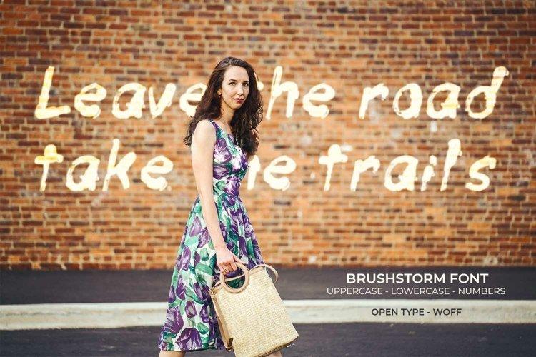 Brushstorm Font | Open Type & Woff