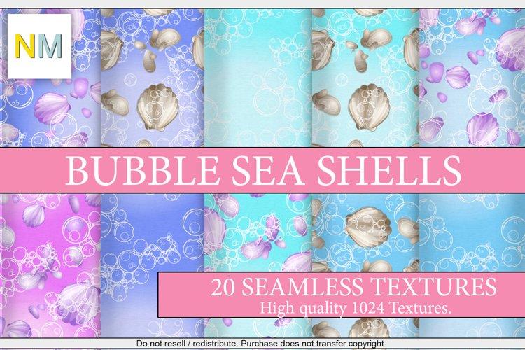 Bubble Sea Shells 20 Seamless Digital Paper Textures