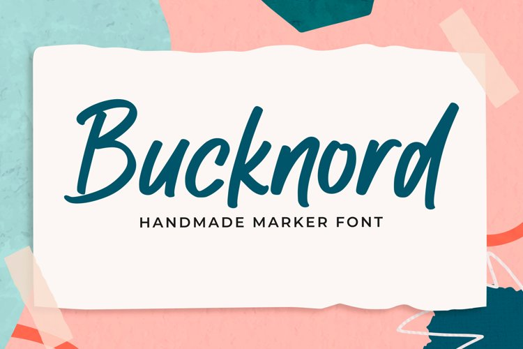 Bucknord - Marker Font example image 1