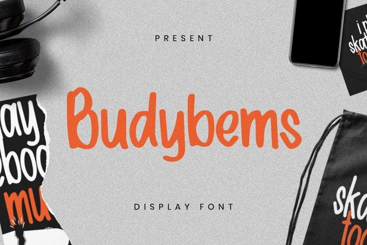 Web Font Budybems Font example image 1