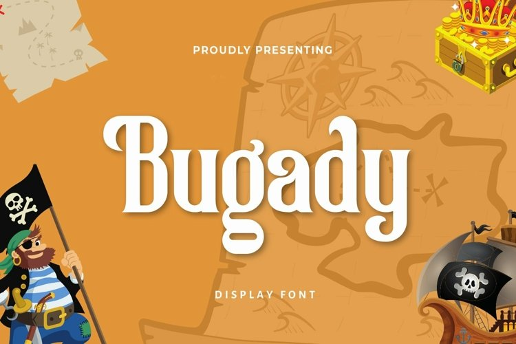 Web Font Bugady - Display Font example image 1