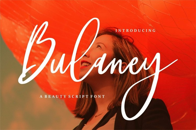 Web Font Bulaney - A Beauty Script Font example image 1