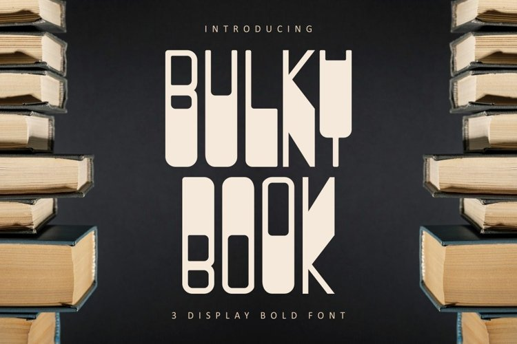BULKY BOOK - 3 Display Bold Font example image 1