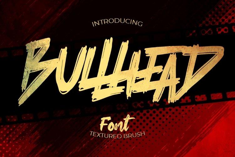 Bullhead - handwritten brush example image 1