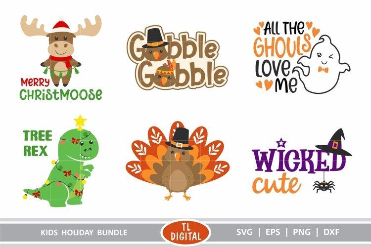 Kids Holiday Bundle - 6 Fun Designs - Cutting Files