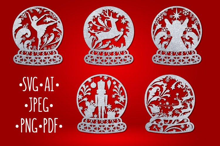 Christmas Bundle snow ball monogram